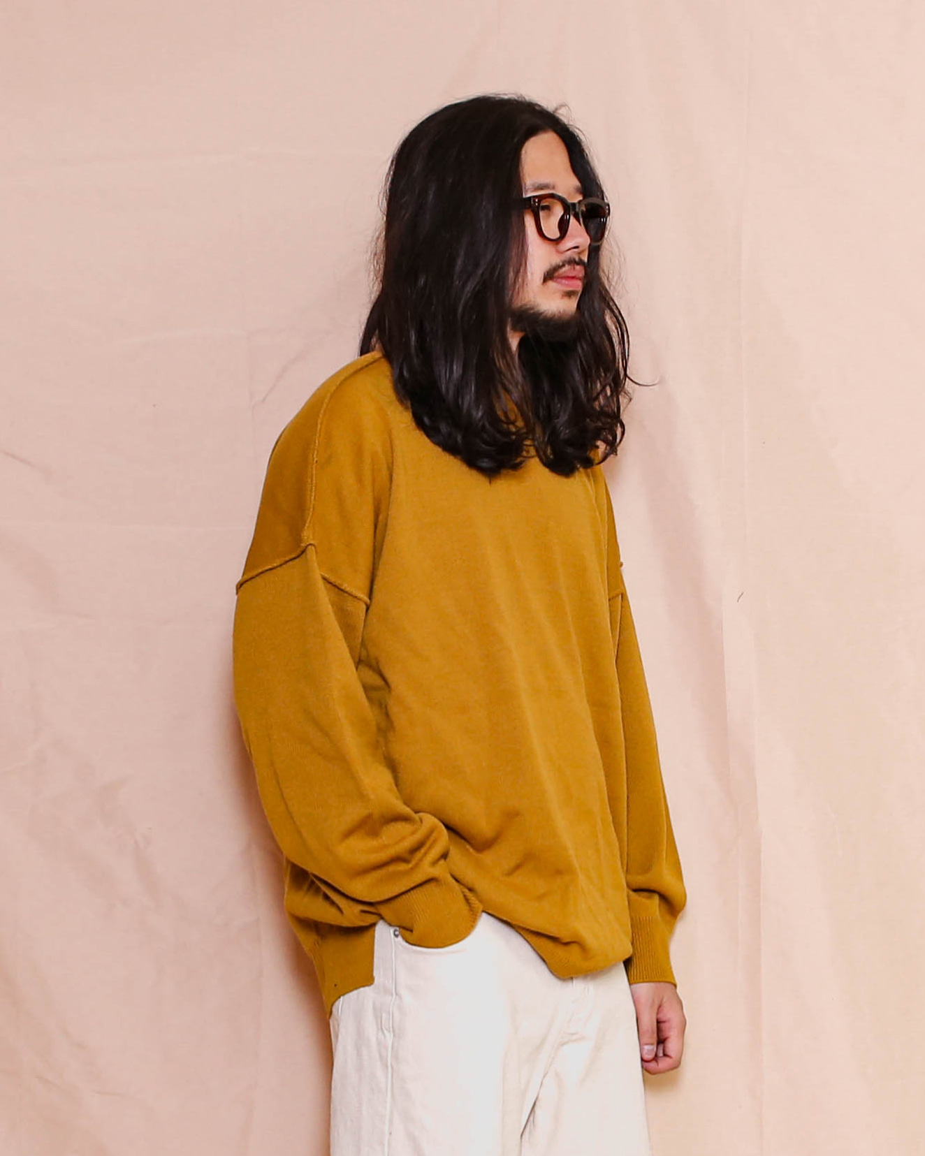 Cutting Overfit Knit (Black/Gray/Charcoal/Mustard)