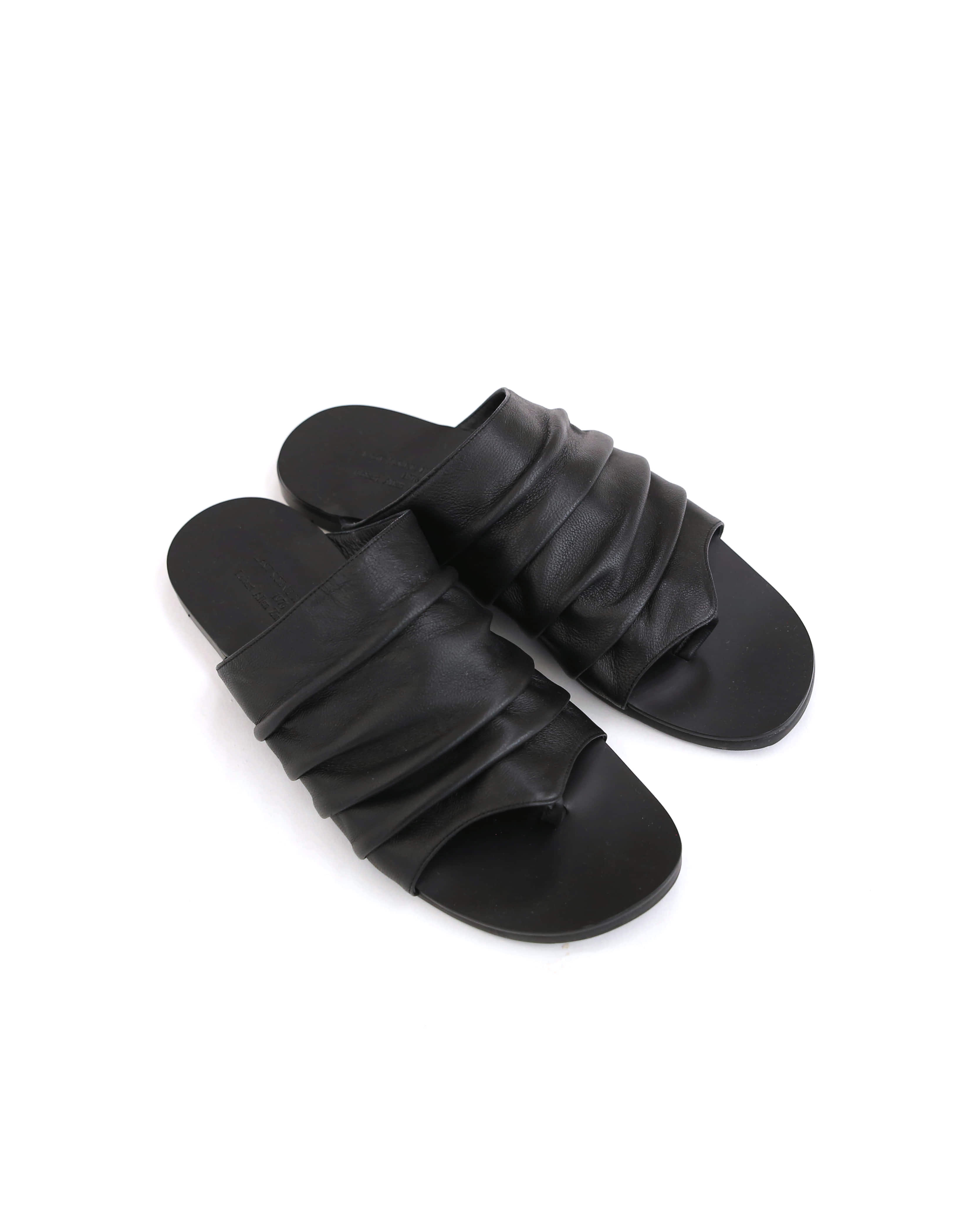 Shirring Slipper (Black)