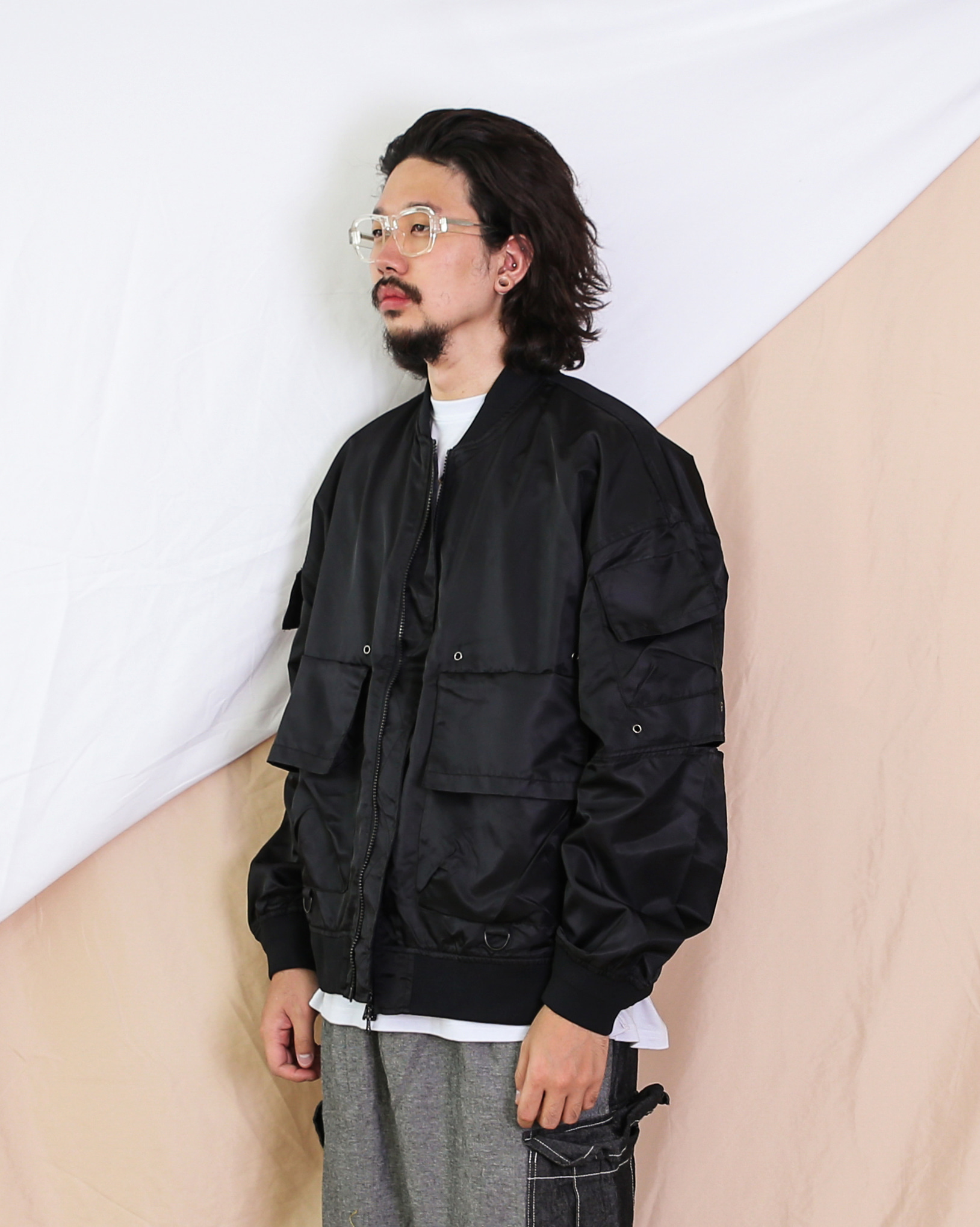 Over Detailed MA-1 Jacket (Black)