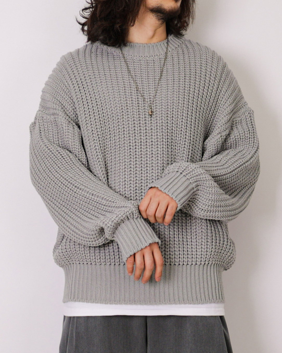Loose Over Warmer Knit (Black/Charcoal/Gray)
