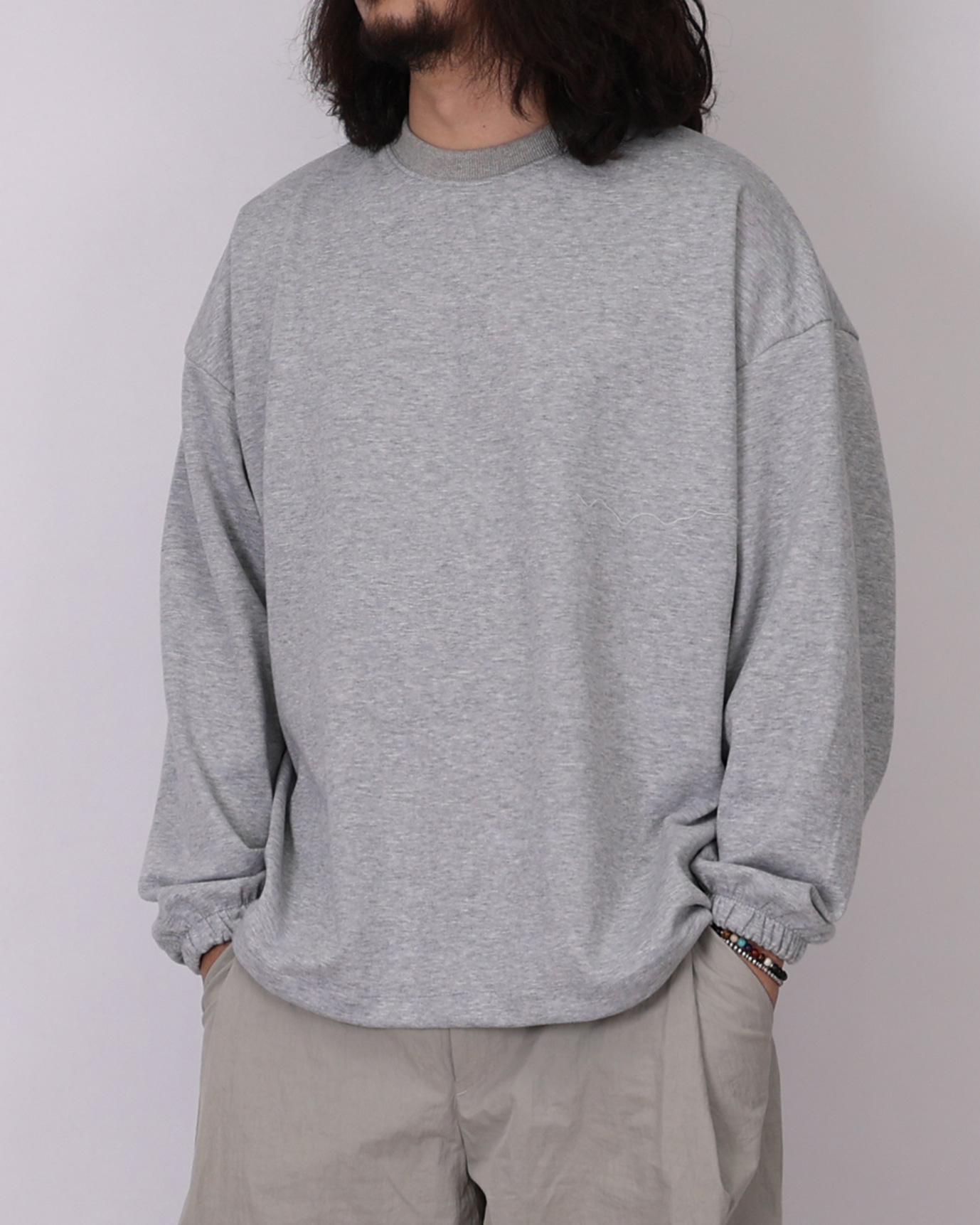 Simple String Long Sleeves (Black/Gray/Light Gray)